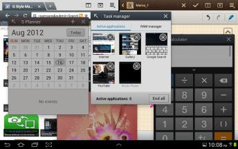 Samsung Galaxy Note 10.1 - MultiScreen - 6 screens