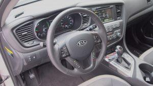 Kia Optima Hybrid – Review - G Style Magazine - interior - steering wheel - dashboard