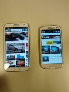 Samsung Galaxy Note II - Compared to Samsung Galaxy S III