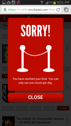 Movie Pass - Unlimited Movie Tickets - Limit Reached - Netflix for Theaters - G Style Magazine