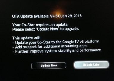 Vizio Co-Star Google TV - Device TV Streamer Software OTA Update