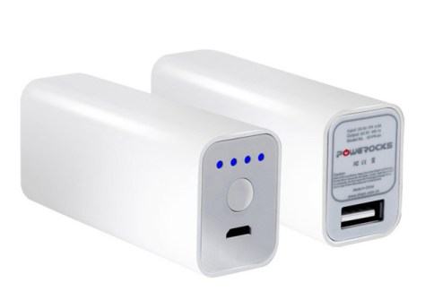 Powerocks Stone 1 – A 2600mAh Battery Charger for Smart Phones - G style magazine white