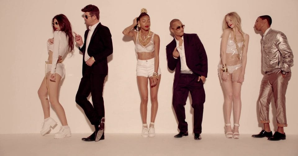 Blurred Lines - Robin Thicke ft. T.I. & Pharrell (NSFW) [Video] Track - Listen to - Now Playing- G Style Magazine -