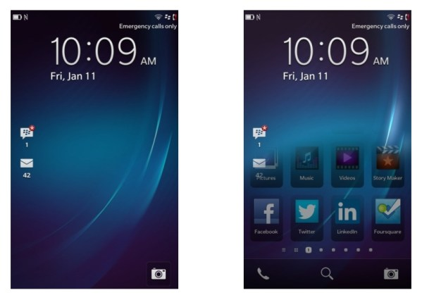 BlackBerry Z10 Review Home Screens Software Impressions: