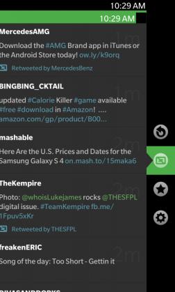 Blaq Twitter App for BlackBerry 10 - G Style 1