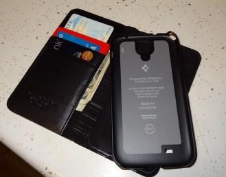 Spigen Leather Wallet SNAP case Samsung Galaxy S4 (10)