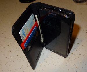 Spigen Leather Wallet SNAP case Samsung Galaxy S4 (5)
