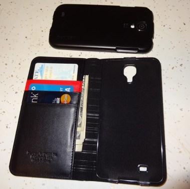 Spigen Leather Wallet SNAP case Samsung Galaxy S4 (8)