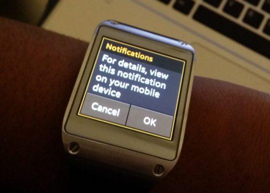 Samsung Galaxy Gear Notifications
