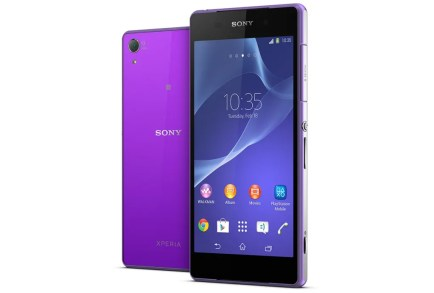 Sony Xperia Z2 Purple Smartphone - Mobile World Congress 2014 - G Style Magazine