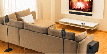 Vizio-5-1 Home Theater Sound Bar Lifestyle