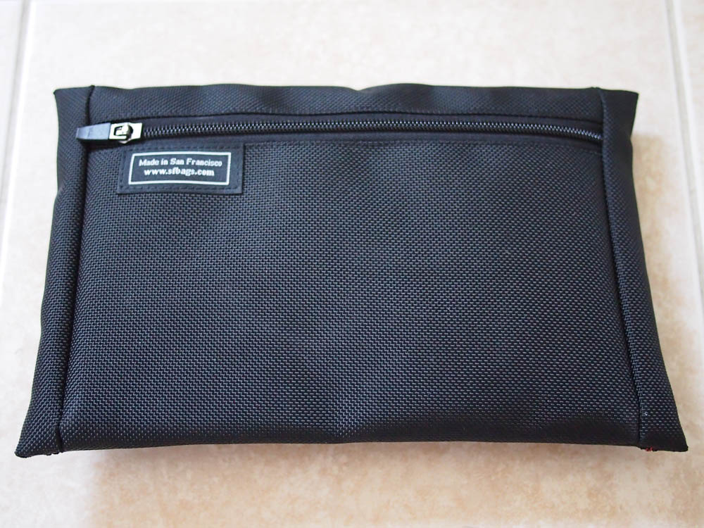 WaterField Cable Guy Pouch Review - Zipper