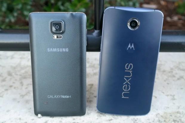 Samsung Galaxy Note 4 vs Nexus 6 Back
