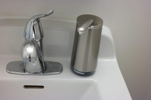 SimpleHuman Sensor Soap Pump Closed