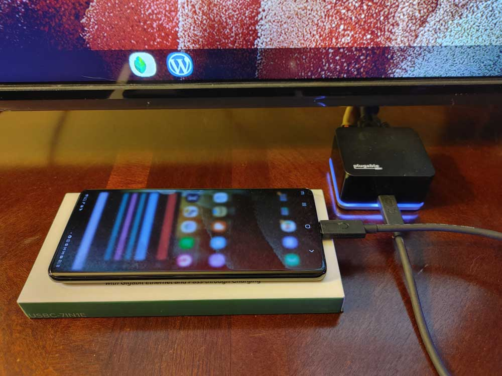 Samsung DeX on Galaxy S21 Ultra 5g