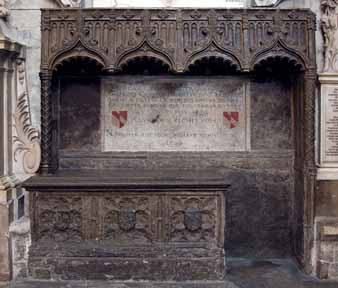 Monument to Geoffrey Chaucer, Westminster Abbey.