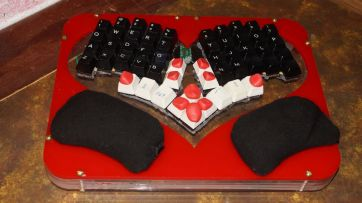 Valentine themed keyboard from keyboardio - its not for sale