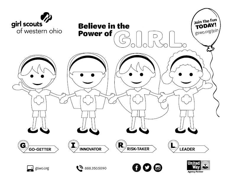 GSWO Coloring Pages  Girl Scouts of Western Ohio Blog