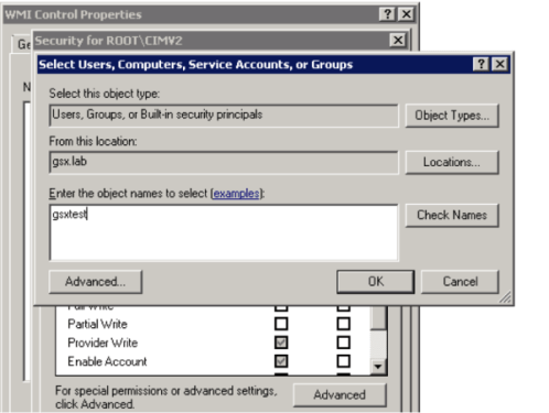 Enable Remote WMI Access for a Domain User Account - GSX