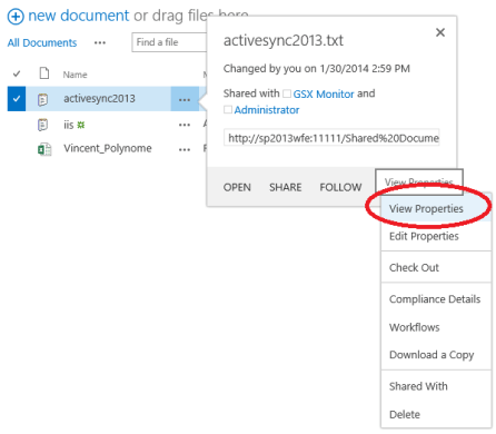 Set up alerts in SharePoint