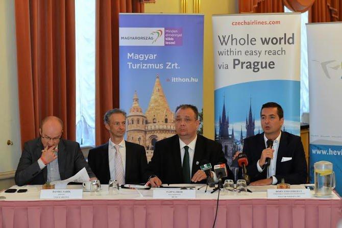 Új légi összeköttetés Prága és Hévíz, Balaton között