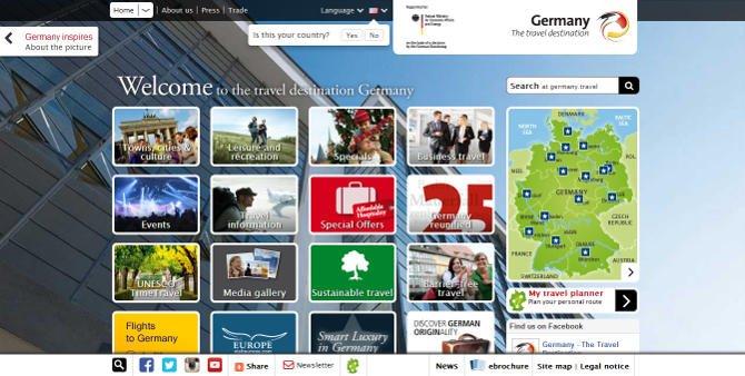 germany.travel weboldal
