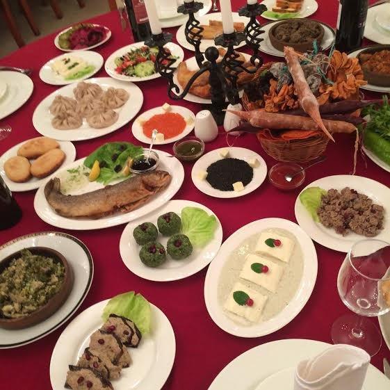 Aragvi Grúz étterem ízelítő