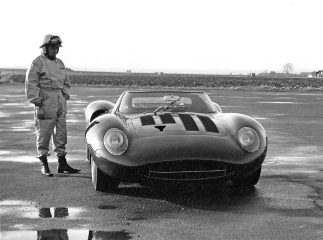 Norman Dewis just before the XJ13's crash.