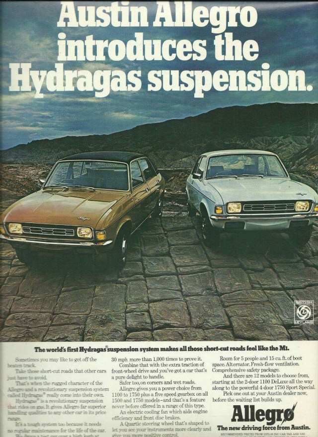 allegro hydragas suspension