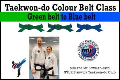 green to blue belt