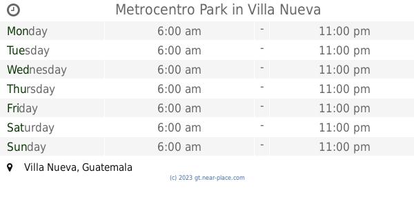 Parque Bárcena Villa Nueva opening times, Villa Nueva