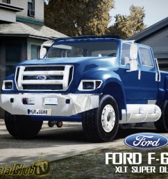 the truck comparison in their size the truck ford f 650 xlt superduty will the grand theft auto iv s largest pickup ever built and converted by  [ 1024 x 768 Pixel ]