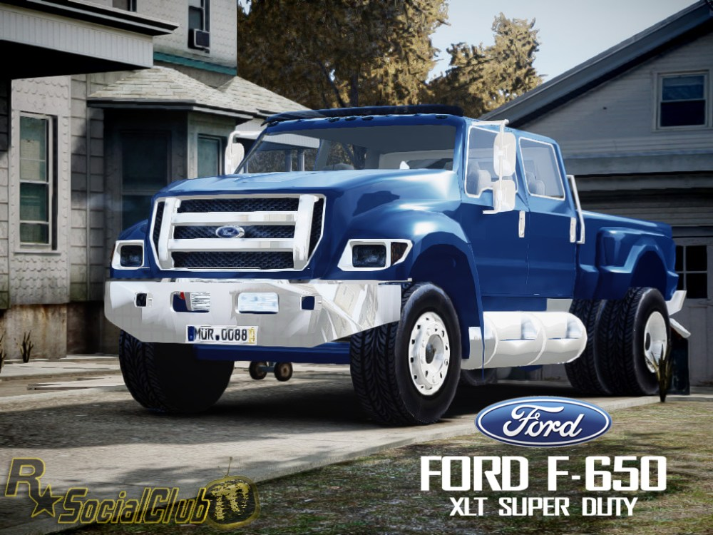medium resolution of the truck comparison in their size the truck ford f 650 xlt superduty will the grand theft auto iv s largest pickup ever built and converted by