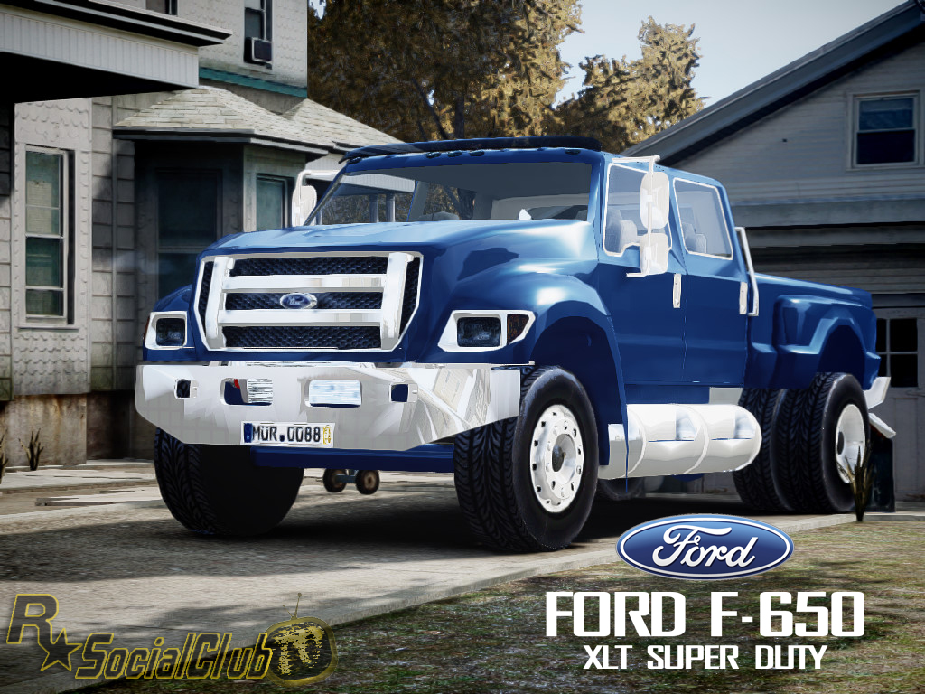 hight resolution of the truck comparison in their size the truck ford f 650 xlt superduty will the grand theft auto iv s largest pickup ever built and converted by
