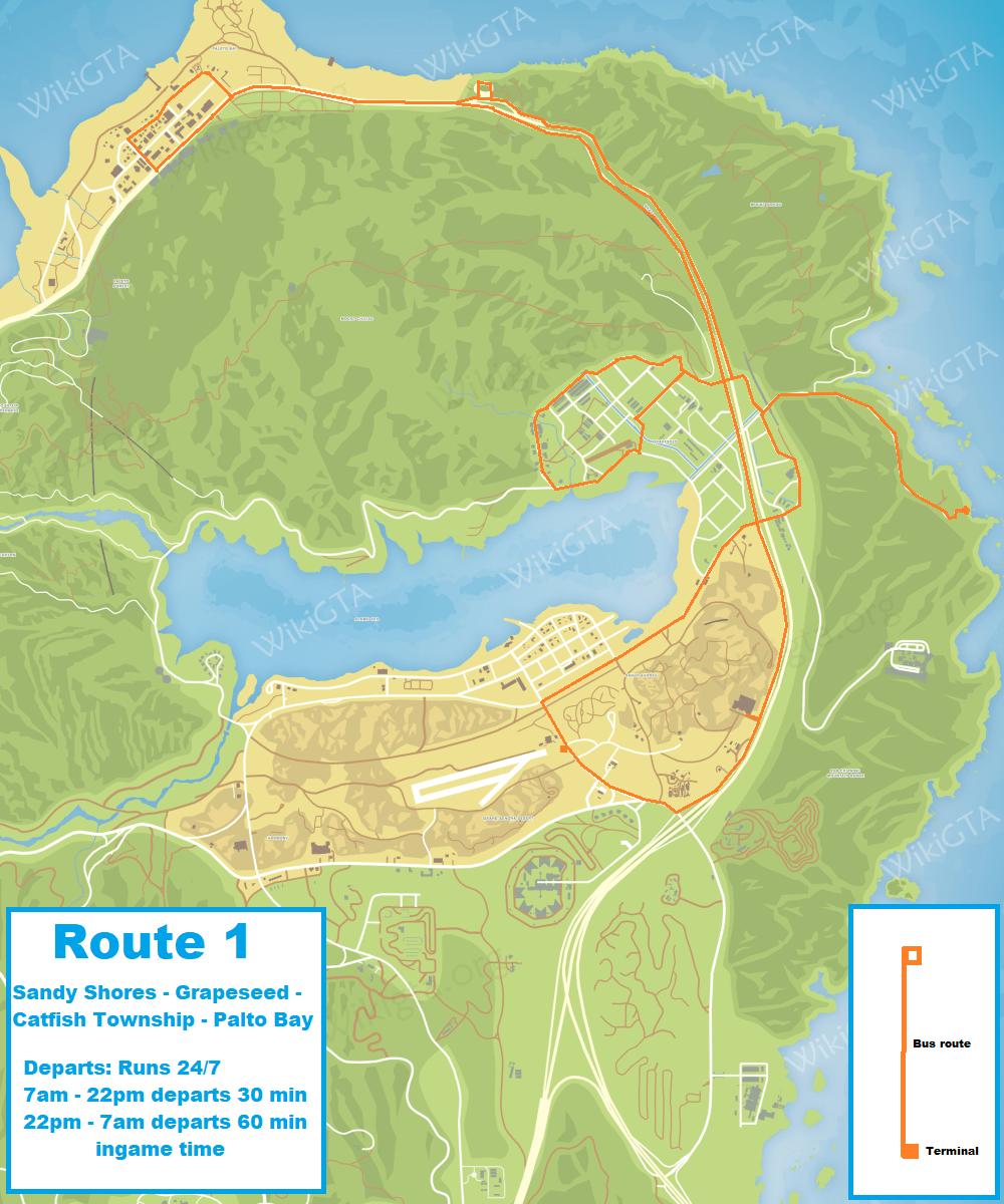 Sandy Shores Map : sandy, shores, Sandy, Shores, Transit, GTA5mod.net