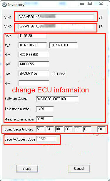 Bosch MED9.1 IMMO OFF ECU 2 57 11