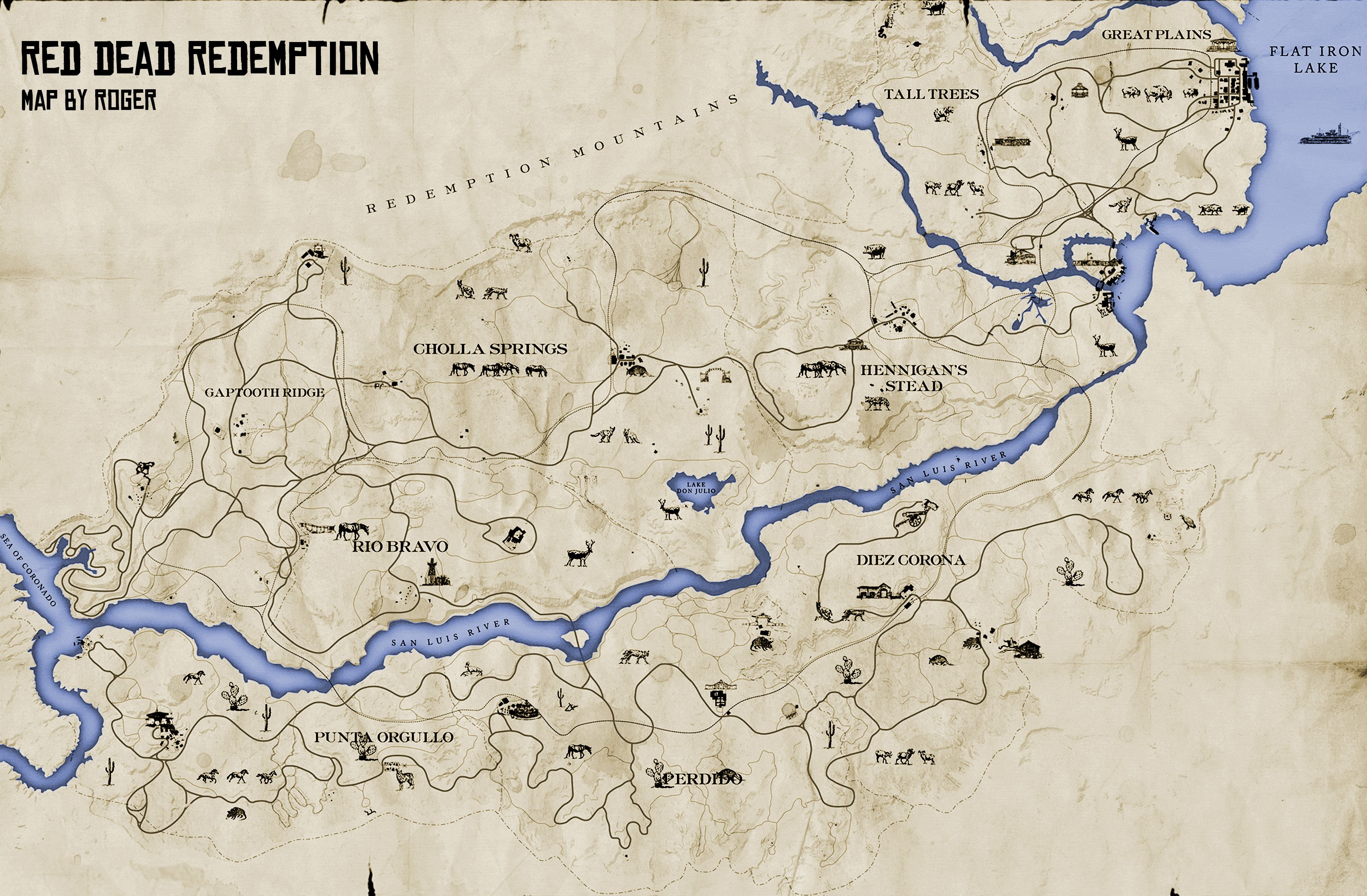Red Dead 1 Map