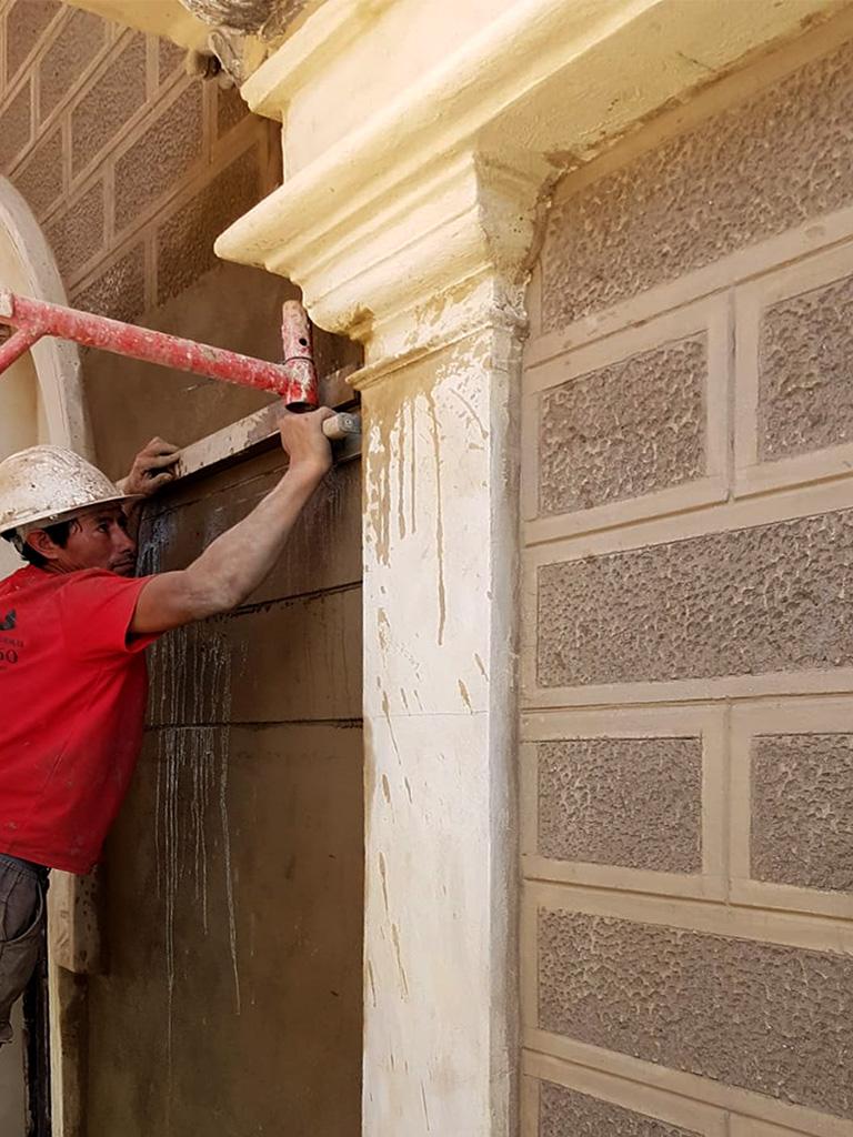 Proceso recuperación fachada sillería abujadada