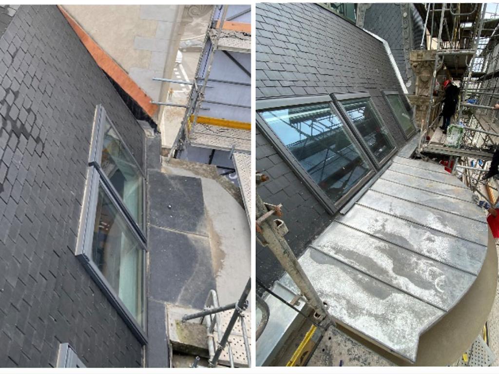 Rehabilitació sota finestra coberta de zenc