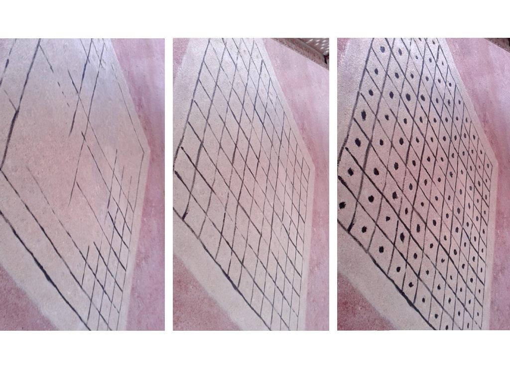 Pasos para la recuperación de los esgrafiados geométricos