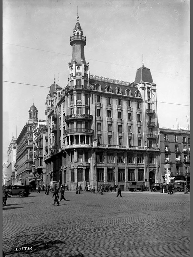 Imagen antigua 1930 de la sede de Transmediterranea