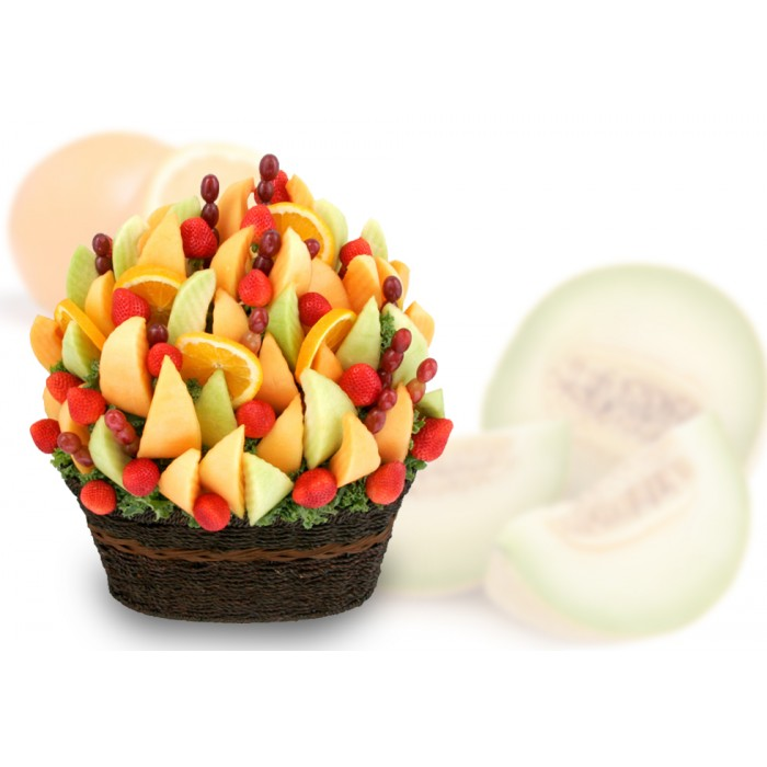 Organic Garden Fruits Arrangement, sympathy fruit gift , fruit bouquet, fruit gifts delivery King city