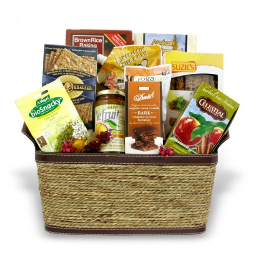 Organic gourmet food basket