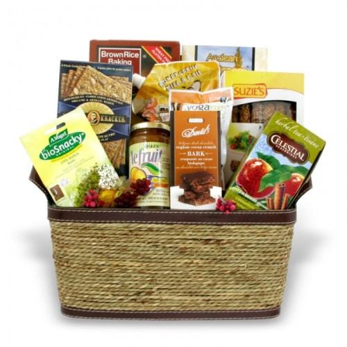 Organic gourmet food basket