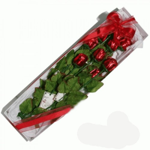 Long Stem Chocolate Roses in a Box