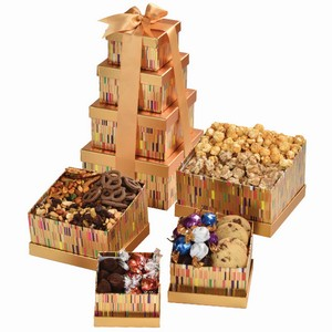 Tower of Babel Treat, corporate gift basket, office gifts, gift for coworkers, food hamper Richmond Hill, Richmond Hill gifts delivery