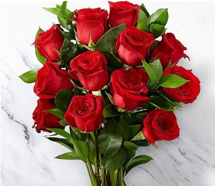 Red roses, rose bouquet