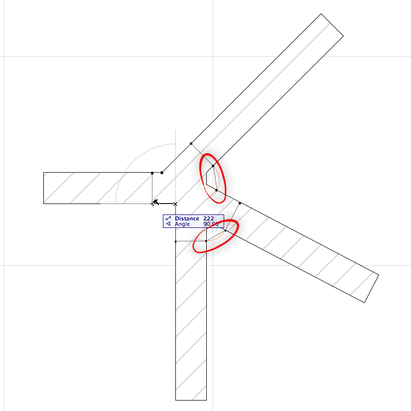 Wall intersection issue/ control of - creative use of the Polygonal Wall (2/5)