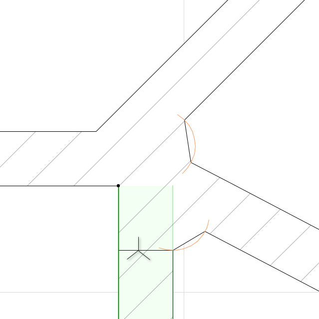 Wall intersection issue/ control of - creative use of the Polygonal Wall (3/5)