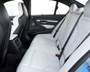 2015 BMW M3 Interior Rear Seats